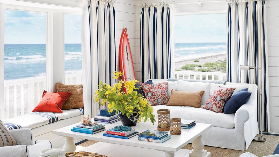 living room in beach front house